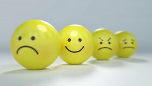 Smileys Depicting Varying Emotions From Alcohol and Prednisone Use