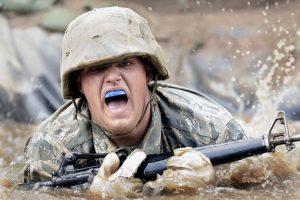 soldier at war